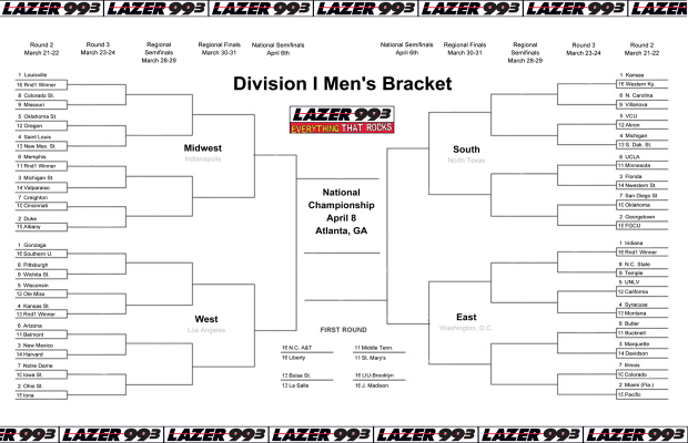 Printable Tournament Bracket