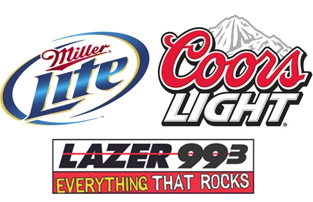 coors light and miller lite at kappy s liquors lazer 99 3 98 5. Black Bedroom Furniture Sets. Home Design Ideas